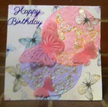 Pams butterfly card