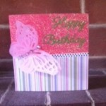 Mums butterfly card