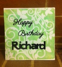 Richards birthday card 2013