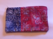 pencil case blue and red