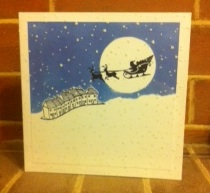 night sky xmas card