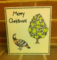 partridge and pheasant xmas card