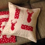 Christmas cushion cream